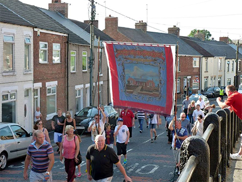 The Dean & Chapter and Mainsforth banners will be paraded in Ferryhill on Friday 8th and early on Saturday 9th July before being transported to the Durham Miners' Gala.