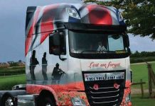 The Poppy Truck will be one of the attractions at the unveiling ceremony of A Field of Poppies - a commemoration to the fallen in the Great War.