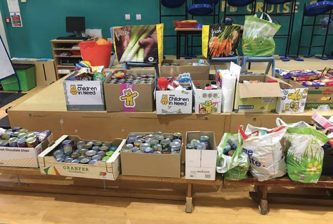 Prince Bishops Primary School pupils and their families responded with overwhelming kindness and generosity to a call for donations to Shildon Alive! Foodbank.