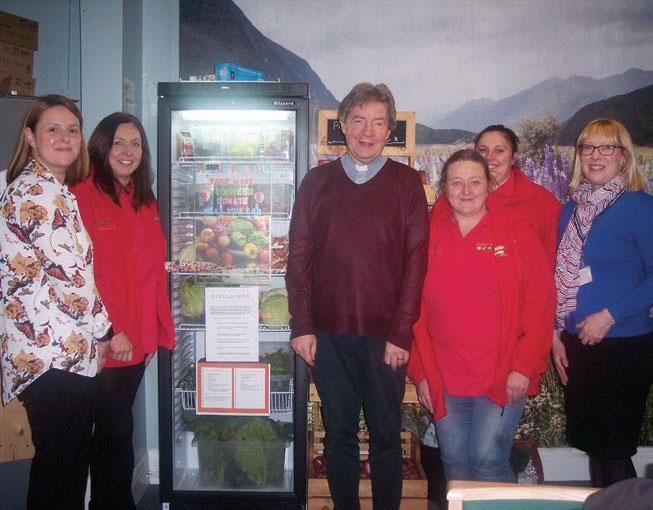 Reverend Canon David Tomlinson 'opens the fridge' at Shildon Alive!