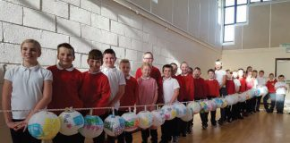 Pupils from St John's with the lanterns they created at Jubilee Fields Community Centre for the Burning Bright project.