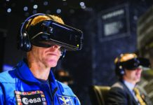 Visitors to the exhibition can experience the 250-mile return journey to earth from the International Space Station through VR, narrated by Tim Peake himself. Image: © National Science and Media Museum, Jody Hartley
