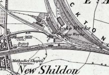 Map detail of New Shildon in 1857