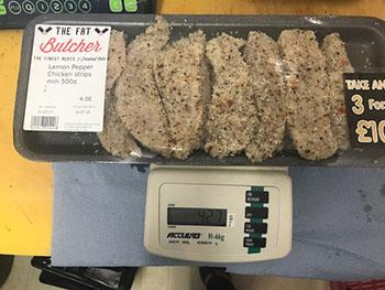 Fat Butcher underweight chicken