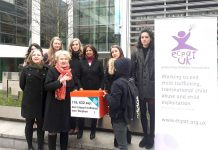 Foster sister Naomi and supporters of Stephen's campaign