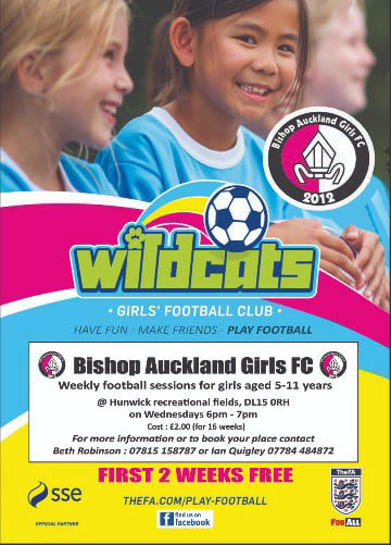 Bishop Auckland Girls FC is now an SSE Wildcats Football Club.