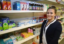 Stephanie Burrows is serving a Customer Services apprenticeship at M&M Pharmacies