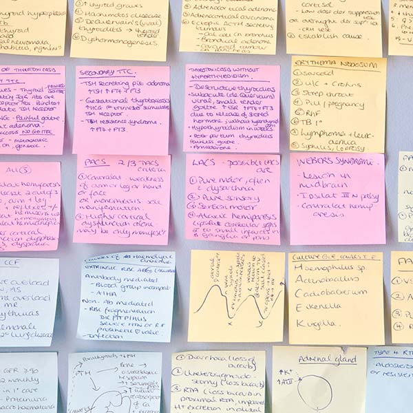 Exam advice: post-it notes