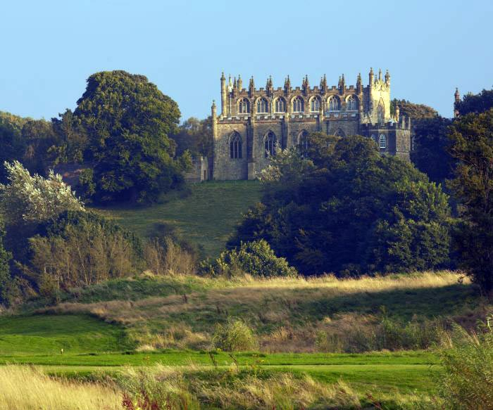 River Wear walks - an alternative view of Auckland Castle.