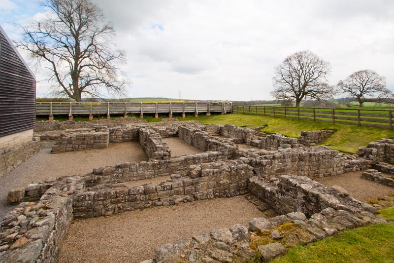 River Wear walks - historic Binchester Roman Fort.