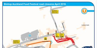 Bishop Auckland Food Festival traffic map