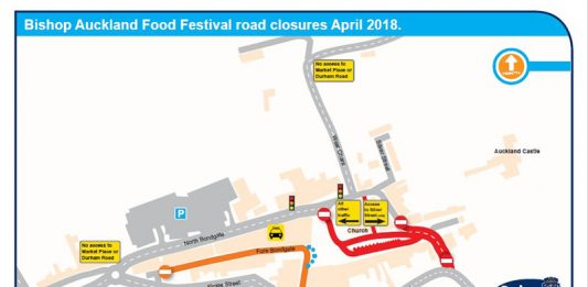 Bishop Auckland Food Festival traffic map