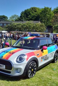 Durham Police car at Pride