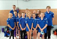 Swimmers at annual charity gala