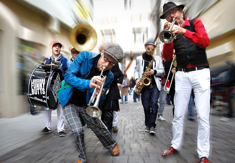 Louisiana Funky Butts Brass Band are coming all the way from Germany to perform at the festival.