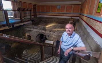 David Mason at Binchester Roman Fort.