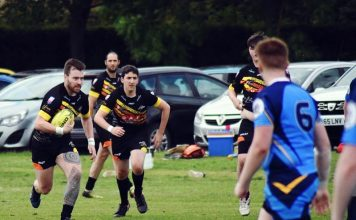 Durham Tigers in action at the weekend against Peterlee Pumas.