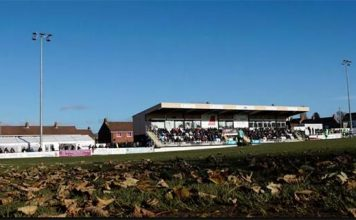 Spennymoor Town's pitch has suffered problems this season.