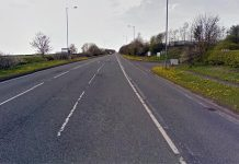 The A689 Coundon bypass was closed for most of the weekend after police stopped a motorhome containing explosive materials.
