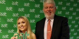 Rebecca Elliott with Chief Financial Officer at The Auckland Project, Chris Bramley. Photo: AAT.