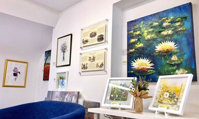 Some of the other floral paintings on show.