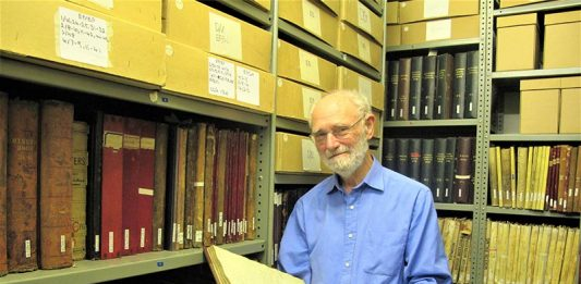 David Butler, archivist at Durham County Record Office.