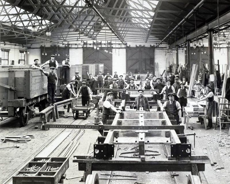 Shildon wagon works circa 1910