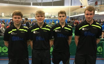 Bishop Auckland Table Tennis Club Boys team