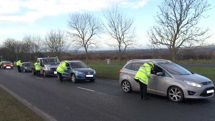 Police stop drivers for drink and drug checks