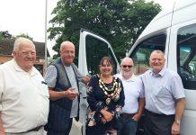Shildon Community Bus celebrate new Mercedes Sprinter