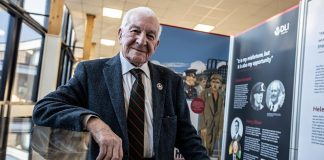 Veteran Harry Oliver at the launch of Coming Home in Spennymoor.