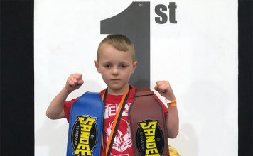 Nolan McGee took the 24kg Sandee Belts for Thai Boxing and K1.