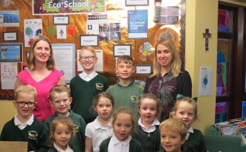 Benjamin, Kaden, Anya, Emily, Eliza, Aiden, James, India, Poppy and Tobias from St Charles with their teaching assistants Mrs Ingleby and Mrs Beard.
