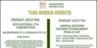 There are some exciting competitions coming up this weekend at Mainsforth CC.