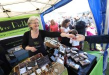 Lea Darling of Burtree Puddings at last year's Bishop Auckland Food Festival.