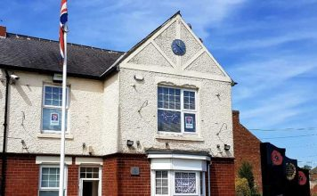 Chilton Town Council was adorned in VE Day decorations and wreaths were laid discreetly at the town's War Memorials.