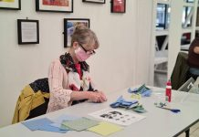 Daisy Arts runs Covid-safe adult craft sessions on Friday mornings. Photo Credit: Daisy Arts