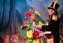 Paul Hartley, left, as Chester the Jester and Neil Armstrong as Rupert Van Rottenchops in the Gala Durham production of Snow White in 2018.