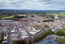 Aerial view of Bishop Auckland