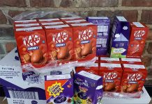 Easter Eggs donated by Bishop Auckland Town Council