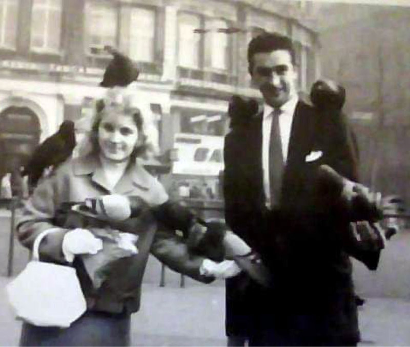 George and Joyce Colledge in London