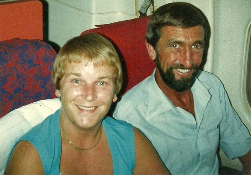 George and Joyce on holiday